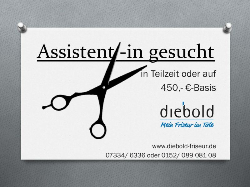 Assistent/-in  gesucht