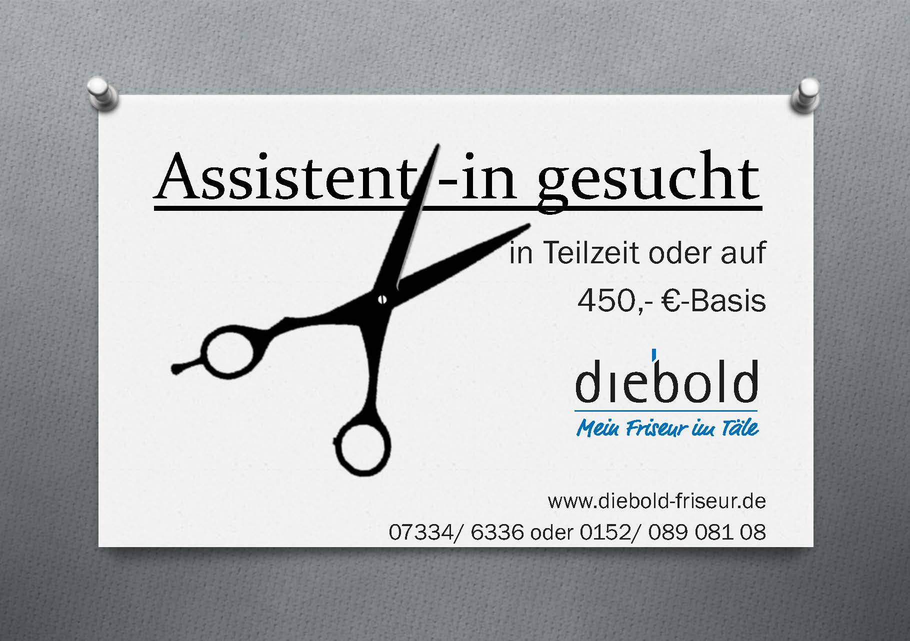 Assistent/-in  gesucht